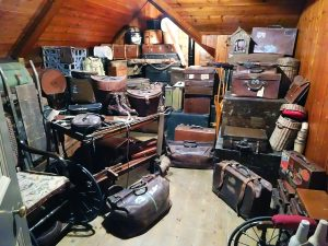 Messy attic.