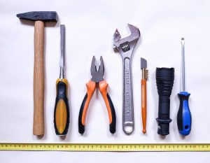 tools on the wall