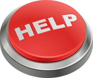 A red help button.