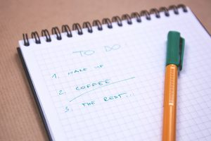 A list of things to do