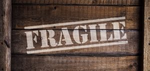 A box with a sign 'fragile'