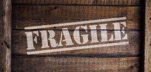A box with a sign 'fragile'