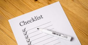 A checklist, this important when you pack efficiently