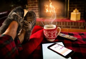 Enjoy some hot cocoe next to a warm fireplace instead of moving during the winter.