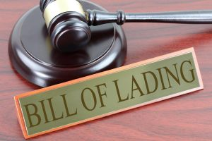 coartroom sign saying 'bill of lading'
