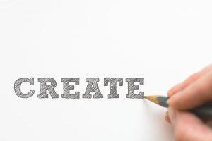A create sign