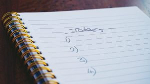 Organize and prepare a checklist before making it. It serves only to check up on things after you have already decided what to do about them