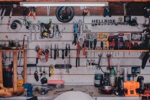 Garage wall.