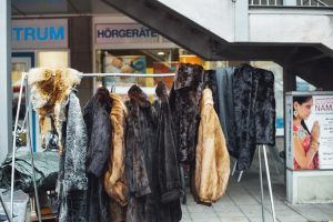 Coats being prepared for storing your fur clothes.