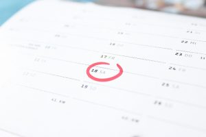 a calendar you will use when Moving from Colorado to New York