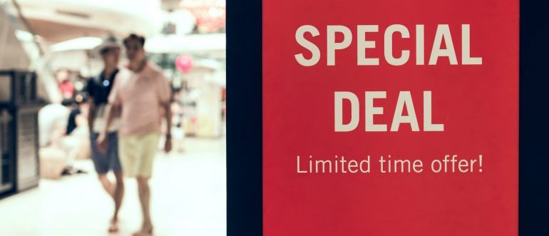 A sign that says special deal limited time offer!