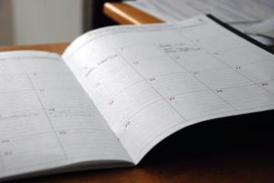 An empty calendar you'll have if you Hire Professional Movers for Small Moves