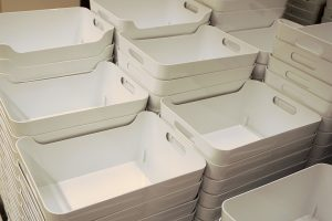 Where to find recyclable plastic moving bins for packing