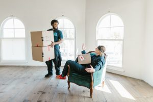 Movers in a room