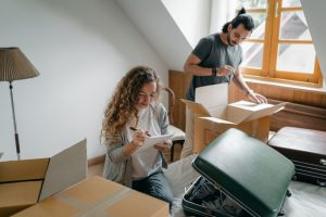 Couple moving their home
