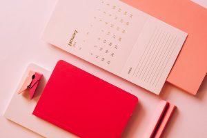 Calendar on the desk